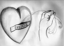 tugging heart